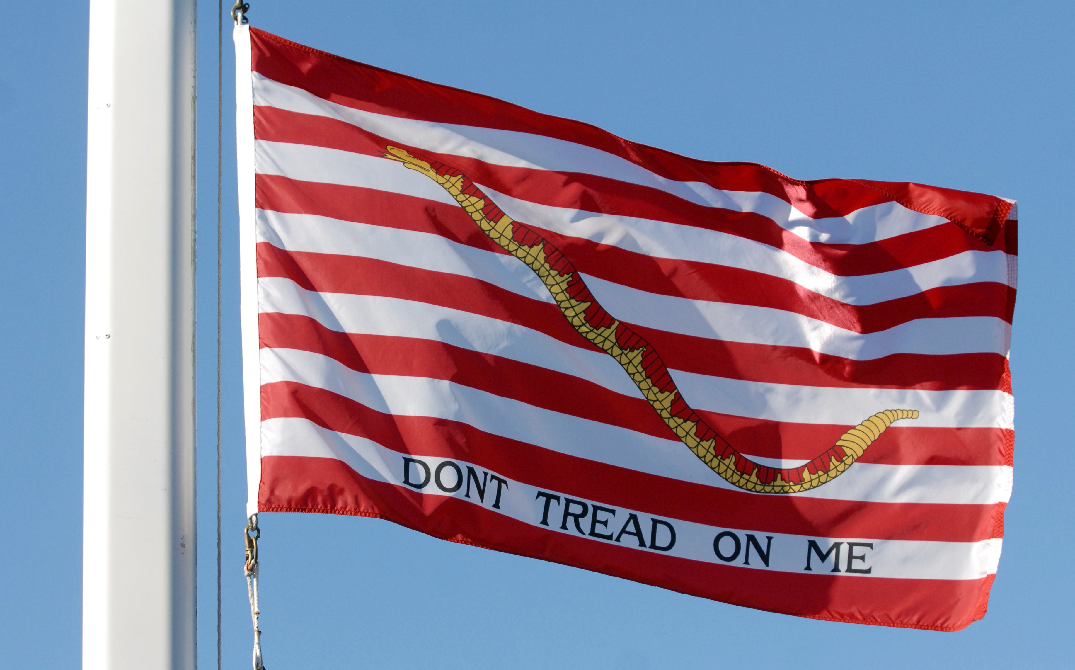 The First Navy Jack is flown at the Center for Information Dominance Detachment, Monterey.